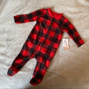Plaid Flannel PJ onesie